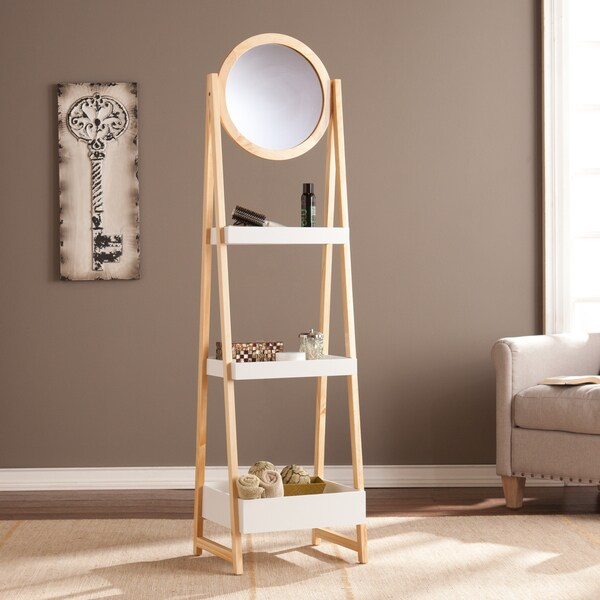 Upton Home Laurel Storage Shelf with Mirror