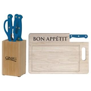Ginsu Essential Series Presidential Blue 7-piece Kitchen Collection