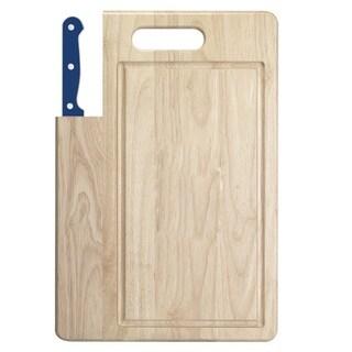 Ginsu Essential Series Presidential Blue 7-inch Santoku Knife with Cutting Board