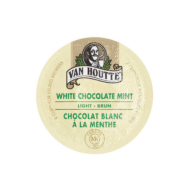 Van Houtte White Chocolate Mint K-Cup Portion Pack for Keurig Brewers