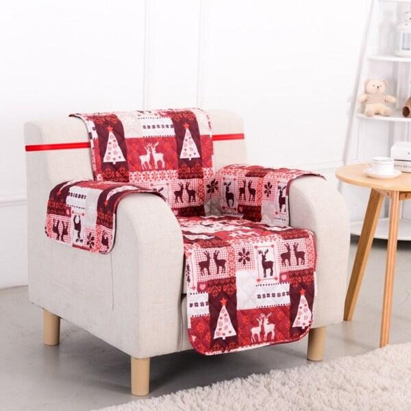 Slumber Shop Christmas Lodge Reversible Printed Chair Protector