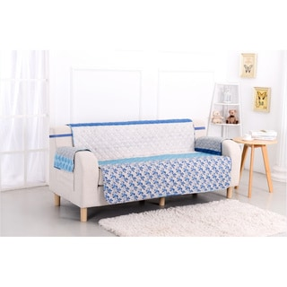 Slumber Shop Blue Stone Reversible Printed Sofa Protector