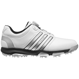 Adidas Men's Tour 360 x BOA Running White/ Silver Metallic/ Core Black Golf Shoes