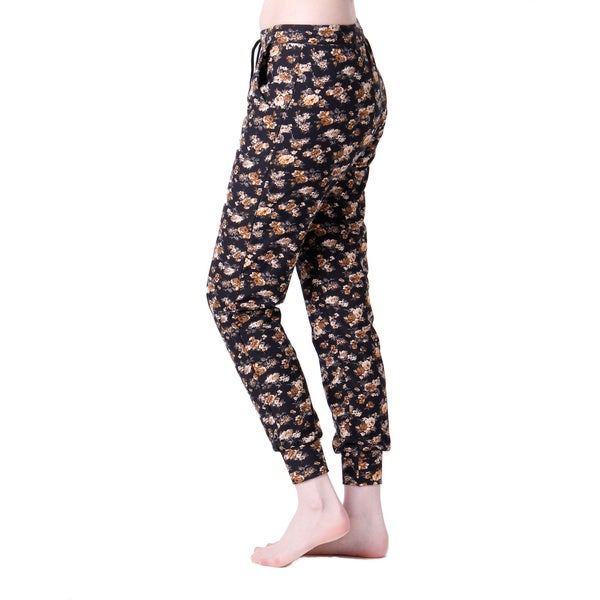 Black/ Brown Flora Jogger Pants