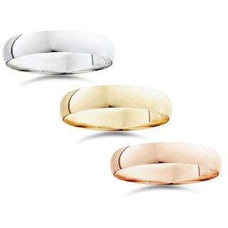 14k White Yellow And Rose Gold 5mm Plain Wedding Band