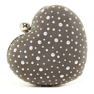 Pink Haley Pearls in the Heart Clutch