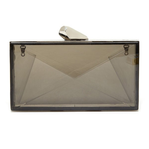 Pink Haley Translucent Box Clutch
