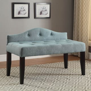 Furniture of America Flax Fabric Upholstered Tufted 42-inch Bench