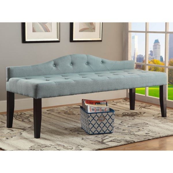 Furniture of america flax fabric upholstered tufted 64 for Sofas under 80 inches