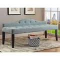 Furniture of America Flax Fabric Upholstered Tufted 64-inch Bench