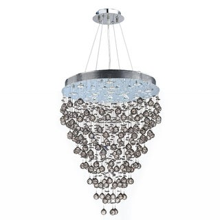 "Modern Contemporary 13 light Chrome Finish Crystal Rain Drop Chandelier 28"" x 60"""