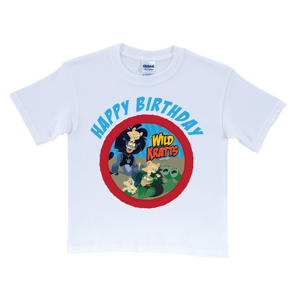 Wild Kratts Happy Birthday White T-Shirt