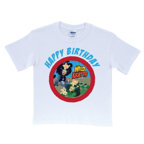 Wild Kratts Happy Birthday White T-Shirt