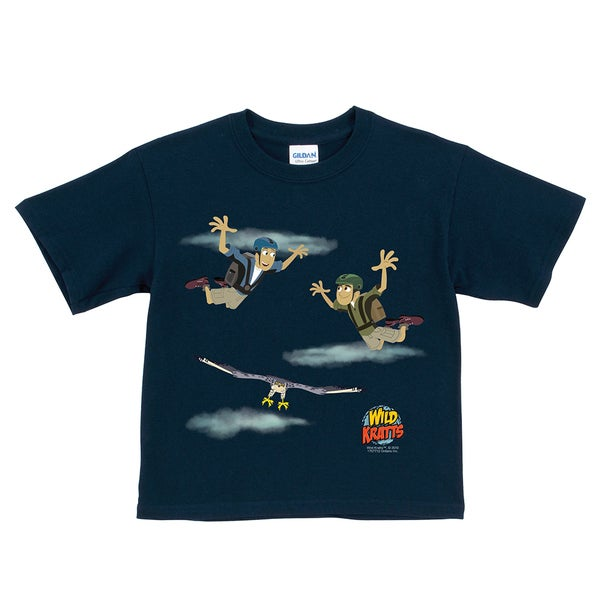 Wild Kratts Sky Diving Navy T-Shirt