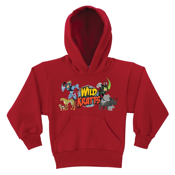 Wild Kratts Creature Adventure Red Youth Hoodie