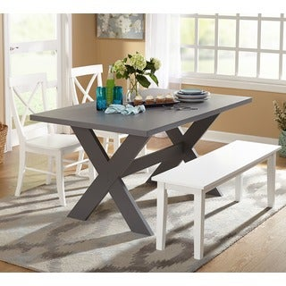 Simple Living 4-piece Sumner Dining Set with Bench