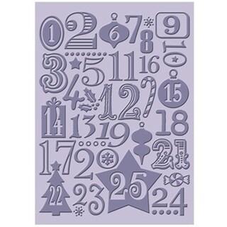 Cricut Cuttlebug Embossing 5X7 Christmas Countdown Folder