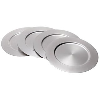 Elegance Stainless Steel 12-inch Charger Plates (Set of 4)