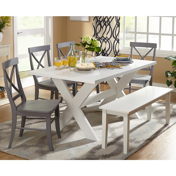 Simple Living 6-piece Sumner Dining Set with Dining Bench 16312681