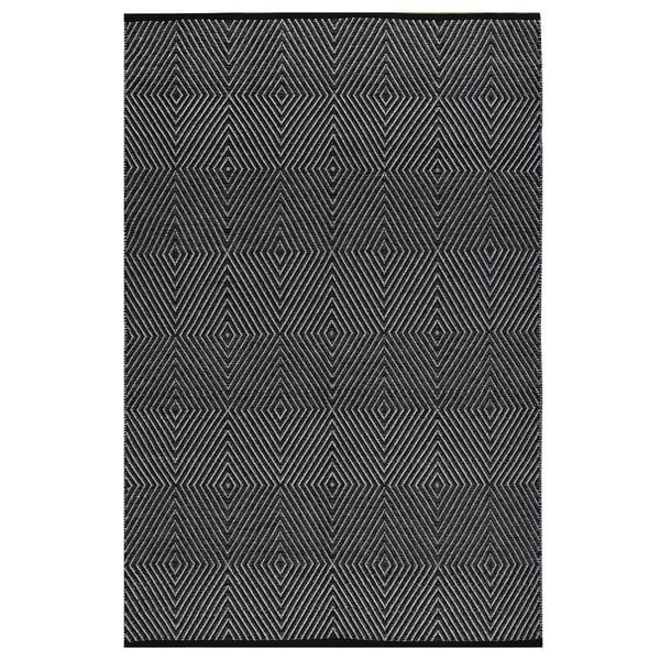 Handmade Zen - Black & Bright White (2' x 3') (India) 16312793