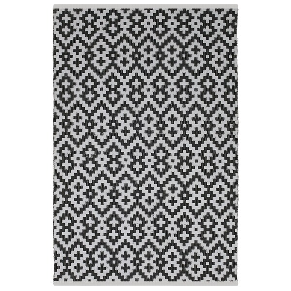 Handmade Indo Samsara Black/ White Area Rug (2' x 3') 16312828