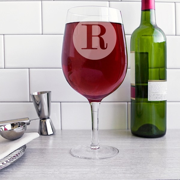 Personalized 25-ounce Novelty XL Wine Glass