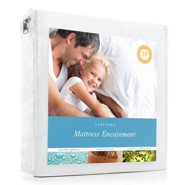 Linenspa Zippered Encasement Waterproof, Dust Mite Proof, Bed Bug Proof Breathable Mattress Protector