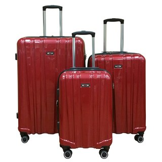 Kemyer 3-piece Polycarbonate Hardside Spinner Luggage Set