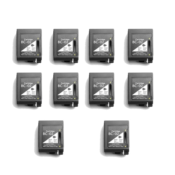 10 Pack BC02 Black Compatible Ink Cartridge For Canon 100 200 200EX (pack of 10)
