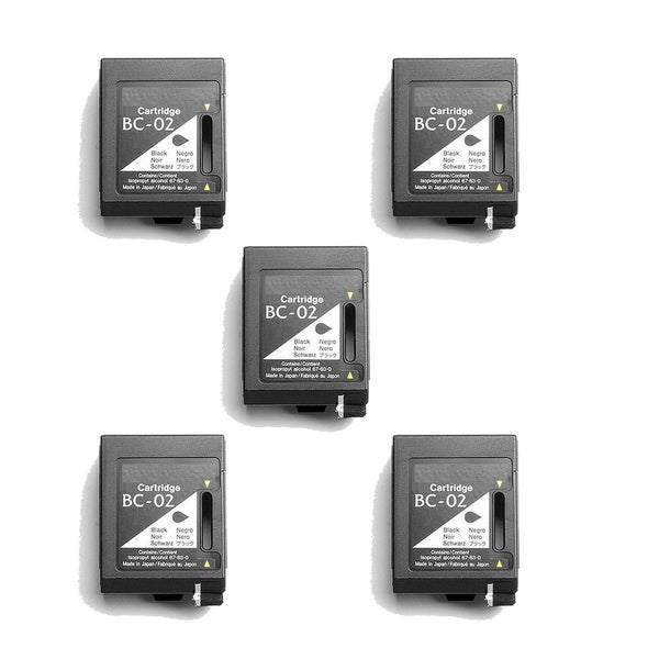 5 Pack BC02 Black Compatible Ink Cartridge For Canon 100 200 200EX (pack of 5)
