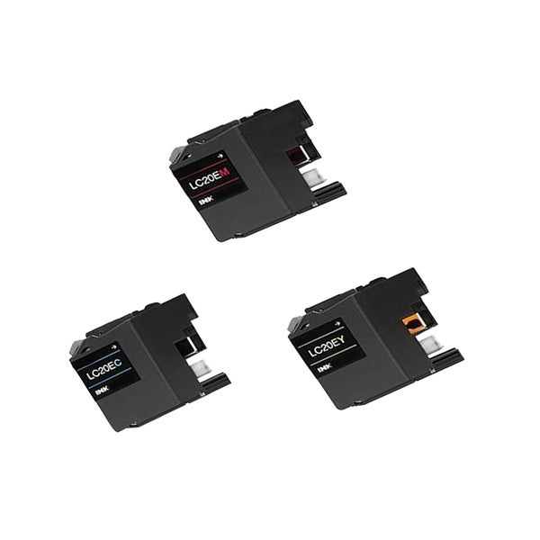 3 PK LC20E (C M Y) XXL Compatible Ink Cartridge For Brother FCJ5920DW (pack of 3)