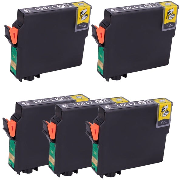 5PK T1591 Photo Black Compatible Ink Cartridge For Epson R2000 (pack of 5)