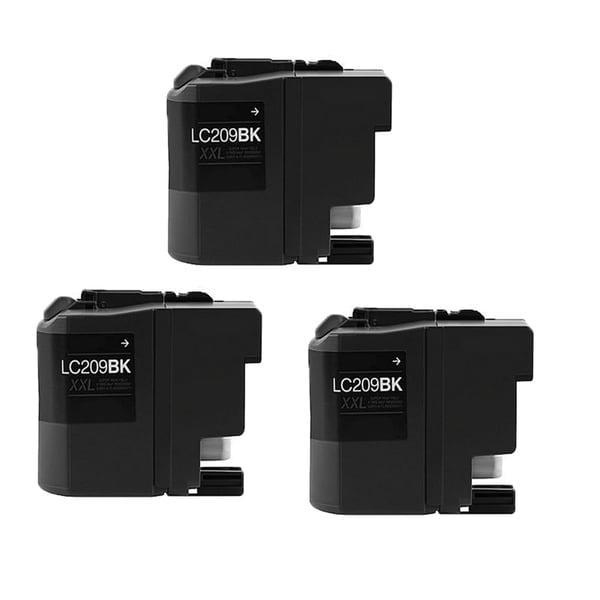 Brother LC209 BK XXL Compatible Inkjet Cartridge For MFC-J5320DW MFC-J5620DW MFC-J5625DW MFC-J5720DW (Pack of 3)