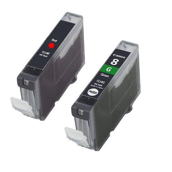 Canon CAN-CLI-8R CAN-CLI-8G Compatible Inkjet Cartridge PIXMA Pro 9000 (Pack of 2)