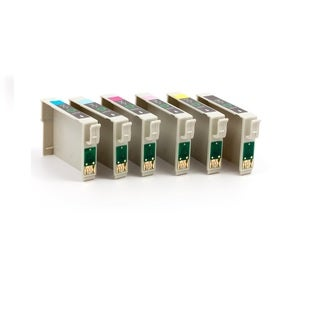 Epson T0771 T0772 T0773 T0774 T0775 T0776 Compatible Inkjet Cartridge For Stylus Photo R260 Stylus Photo R280 (Pack of 7)