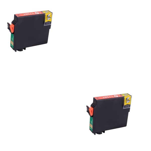2PK T1597 Red Compatible Ink Cartridge For Epson R2000 (pack of 2)