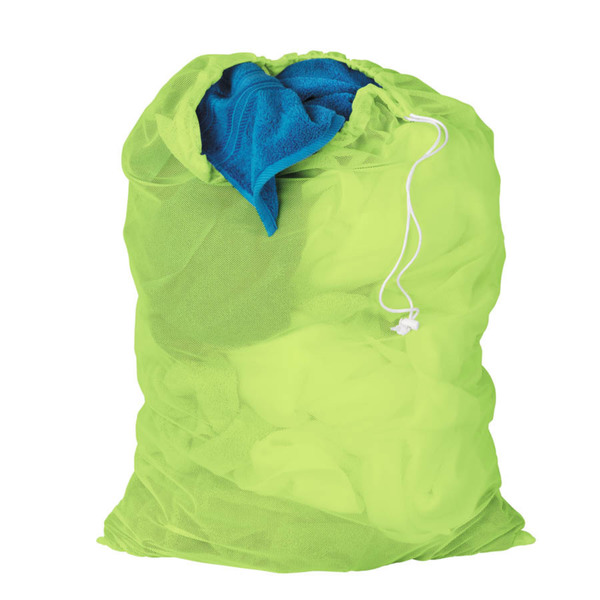 Honey Can Do Neon Green Mesh Laundry Bag 2-pack