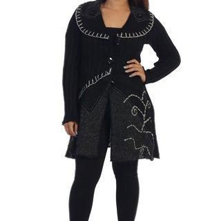 Ella Samani's Missy Black Flower Long Jacket