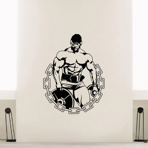 Gym Weights Vinyl Wall Art Decal Sticker