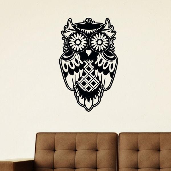 Tattoo Owl Vinyl Wall Art Decal Sticker