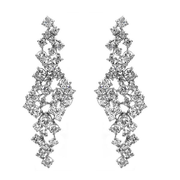 Asymmetric CZ Earrings