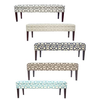 MJL Furniture Kaya Sheffield 10 Button Tufted Upholstered Long Bench
