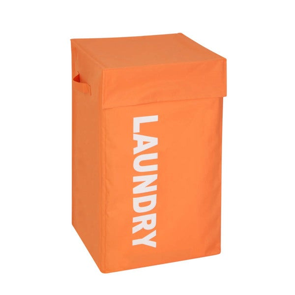 Orange Graphic Hamper with Lid
