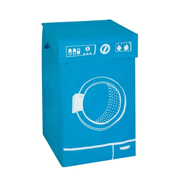Honey Can Do Blue Graphic Washing Hamper