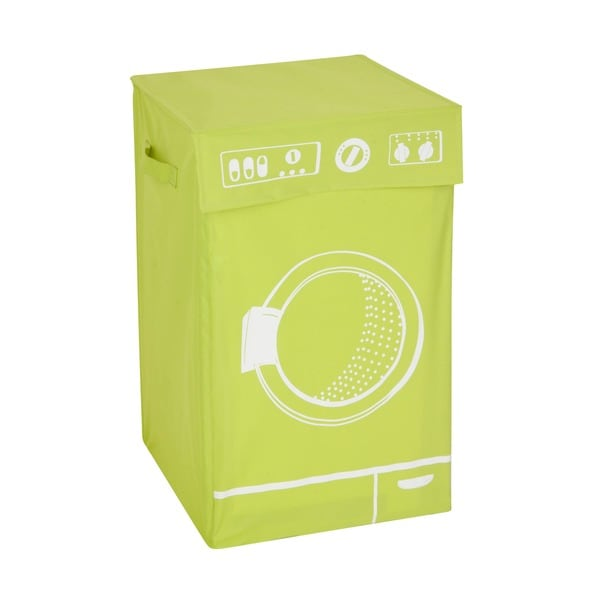 Honey Can Do Lime Graphic Washing Hamper