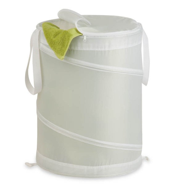 Honey Can Do White Medium Nylon Pop Open Hamper