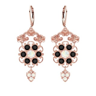Lucia Costin Silver Black White Crystal Earrings