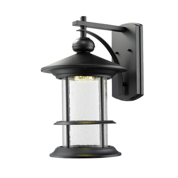 Z-Lite Genesis Black Outdoor LED Wall Light