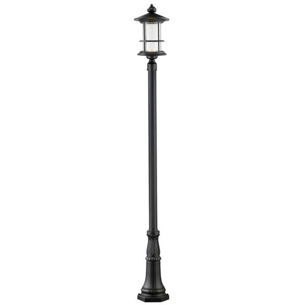 Z-Lite Genesis Black Outdoor LED Post Light