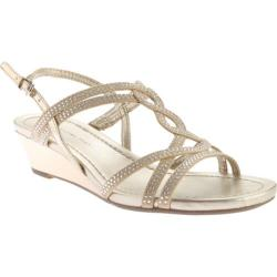 Women's Bandolino Gilnora Wedge Sandal Light Gold/Light Gold Fabric